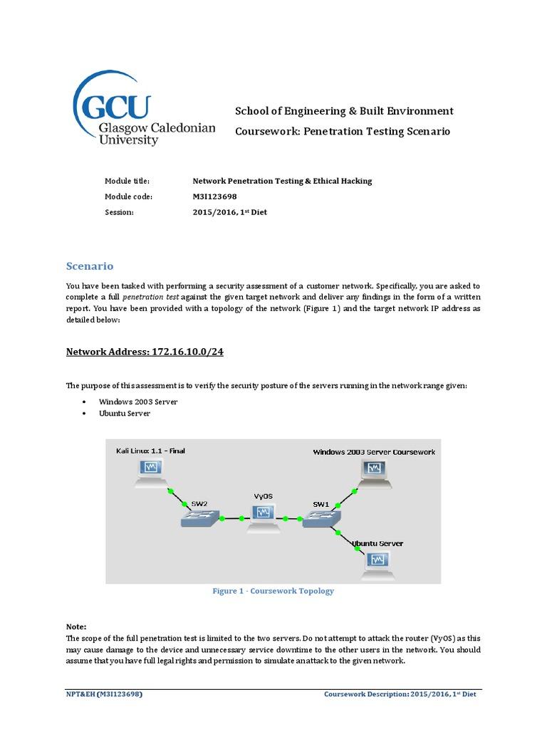 gcu coursework submission form
