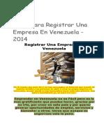 Pasos Para Registrar Una Empresa en Venezuela