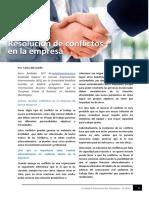 Resolución de Conflictos de Conflictos en Las Empresas
