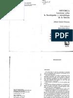 Droysen Johann G. Historica. Lecciones sobre la Enciclopedia y metodologia de la historia.pdf