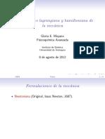 Mecanica, Newtoneana, Lagrangeana, y Hamiltoneana