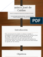 Aportes a la investigación y desarrollo colombiano (Francisco Jose de Caldas)