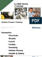 Apresentação Técnica Motor Perkins 2806