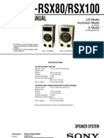Sony SSRSX-80 Service Manual