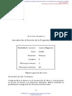 Introducción Al Derecho de La Propiedad Intelectual - UNAM