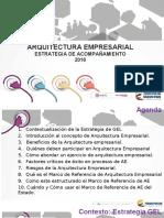 Arquitectura Empresarial y Marco de Referencia