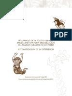 Politica Publica de Trabajo Infantil en Colombia