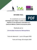 Estrategias Para Mitigar El Cambio Climático y Su Impacto en Una Subcuenca Vulnerable de La Cuenca de Mexico