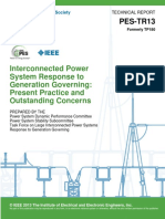 IEEE PES - Interconnected Power System Response to Generation Governing