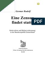 Germar Rudolf Zensur Findet Statt 48S A4