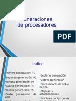 Generaciones de Procesadores