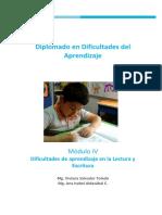 DIFICULTADES DE APRENDIZAJE EN LA LECTURA Y ESCRITURA