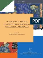 Ragionar Damore. Il Lessico Delle Emozioni Nella Lirica Medievale. Sommario.