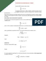 Coeficientes Variáveis e Variáveis Separáveis