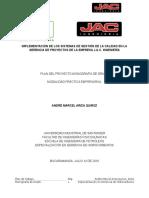 Plan de Trabajo Monografía André Marcel Ariza Quiroz