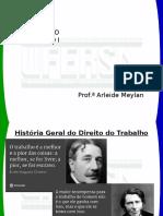 Histórico e Introdução de Direito Do Trabalho