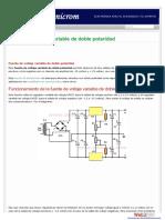 Voltaje de fuente variable de doble polaridad