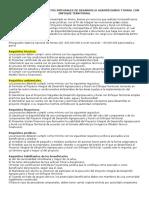 Aprobación de Los Proyectos Integrales de Desarrollo Agropecuario y Rural Con Enfoque Territorial