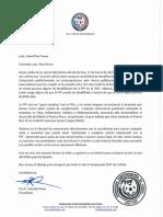 Carta Labrador a Rivé