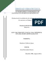 Evaluacion de La Satisfaccion de Usuarios de Tres Lineas de Camiones en Xalapa Veracruz