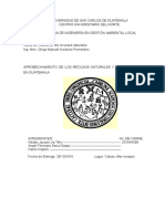aprovechamiento de los recursos naturales en Guatemala