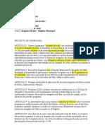 Proyecto de Ordenanza - Raúl Woscoff