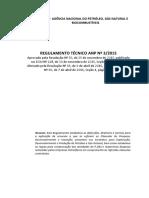 Regulamento Técnico Nº# ANP