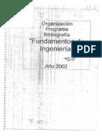 Fundamentos de Ingenieria - Año 2002