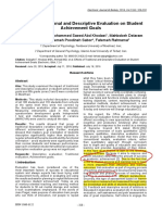 Issn 18603122 328 Effects of Traditional and Descriptive Evaluation on Studentachievement Goals