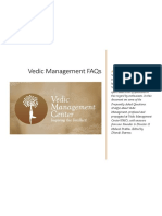 Vedic Management FAQs