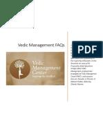 Vedic Management FAQs