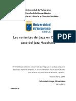 Seminario III 2015 el jazz huachaca