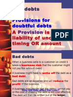 Bad Debts and Provision for Doubtful Debt