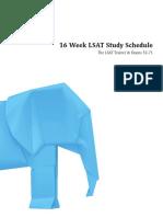 16 Week Lsat Study Schedule 2017