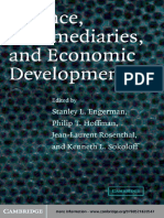 [Stanley L. Engerman, Philip T. Hoffman, Jean-Laurent Rosenthal & Kenneth L. Sokoloff] Finance, Intermediaries, And Economic Development