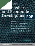 [Stanley L. Engerman, Philip T. Hoffman, Jean-Laurent Rosenthal & Kenneth L. Sokoloff] Finance, Intermediaries, And Economic Development