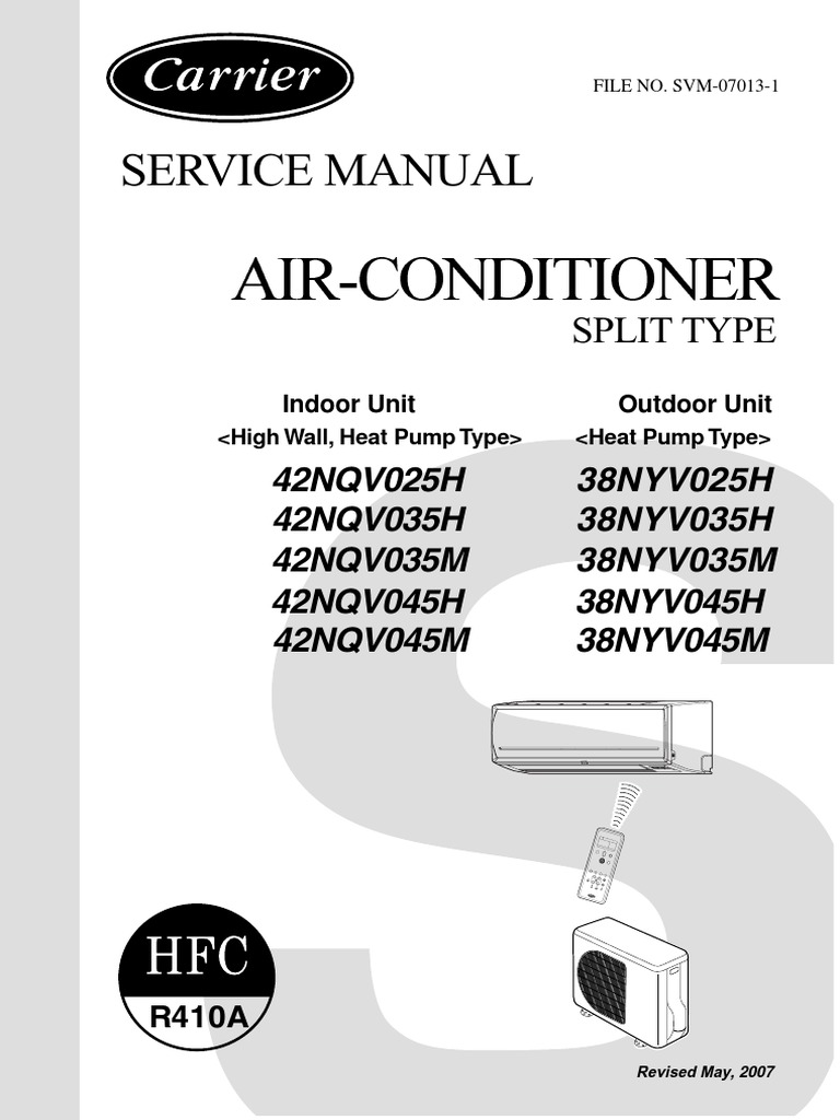 carrier service manual airconditioner split type | Air Conditioning | Hvac