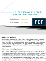 Restless Leg Syndrome (RLS) Causes, Symptoms, and Treatment