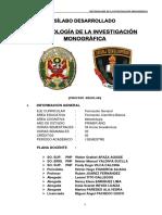 Silabo Metodologia de La Investigacion 2015