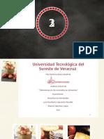 Determinación de Minerales en Alimentos.