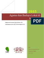 Agama Dan Budaya Lokal Di Indonesia
