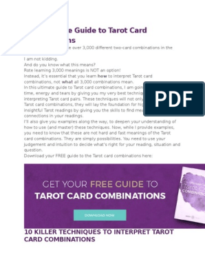 The Ultimate Guide to Tarot Card Combinations | Major Arcana