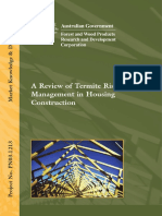 Termite Risk Management Housing Construction