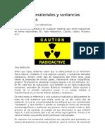 Manejo de Materiales y Sustancias Radioactivas