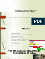 Potential Disaster Vulnerabilities in Chandigarh and Likely Responses