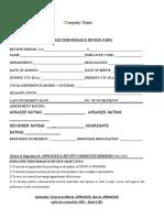 Annaul Appraisal Format 218 115