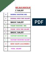 Salary calculation