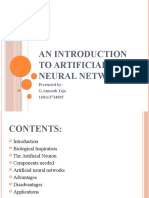 An Introduction to Artificial Neural Network