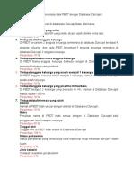 Daftar Permasalahan Sinkronisasi Data PBDT Dengan Database Dukcapil