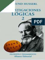 Investigaciones Lógicas II Husserl